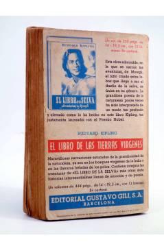 Contracubierta de AVENTURAS DE TARZÁN 3. LAS FIERAS DE TARZÁN (Edgar Rice Burroughs) Gustavo Gili 1956. 7ª ed