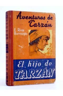 Cubierta de AVENTURAS DE TARZÁN 4. EL HIJO DE TARZÁN (Edgar Rice Burroughs) Gustavo Gili 1947. 3ª ed