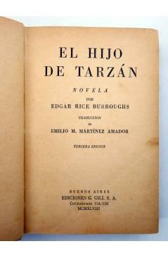 Muestra 1 de AVENTURAS DE TARZÁN 4. EL HIJO DE TARZÁN (Edgar Rice Burroughs) Gustavo Gili 1947. 3ª ed