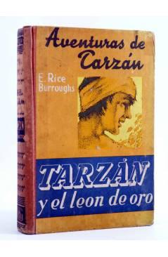 Cubierta de AVENTURAS DE TARZÁN 9. TARZÁN Y EL LEÓN DE ORO (Edgar Rice Burroughs) Gustavo Gili 1948. 2ª ed