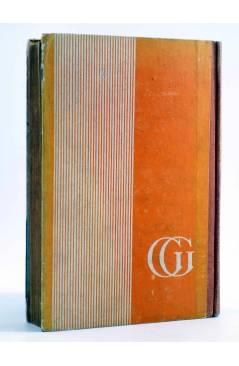 Contracubierta de AVENTURAS DE TARZÁN 9. TARZÁN Y EL LEÓN DE ORO (Edgar Rice Burroughs) Gustavo Gili 1948. 2ª ed