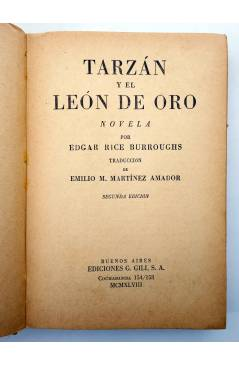 Muestra 1 de AVENTURAS DE TARZÁN 9. TARZÁN Y EL LEÓN DE ORO (Edgar Rice Burroughs) Gustavo Gili 1948. 2ª ed