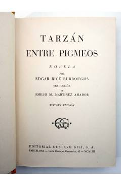 Muestra 1 de AVENTURAS DE TARZÁN 10. TARZÁN ENTRE PIGMEOS (Edgar Rice Burroughs) Gustavo Gili 1953. 3ª ed
