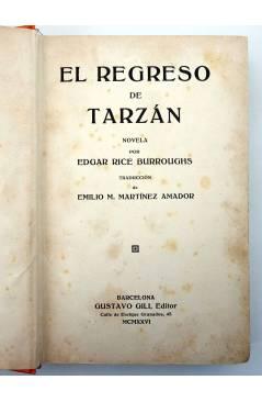 Muestra 1 de AVENTURAS DE TARZÁN 2. EL REGRESO DE TARZÁN (Edgar Rice Burroughs) Gustavo Gili 1926