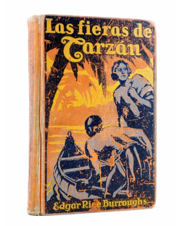 Cubierta de AVENTURAS DE TARZÁN 3. LAS FIERAS DE TARZÁN (Edgar Rice Burroughs) Gustavo Gili 1927. 2ª ed