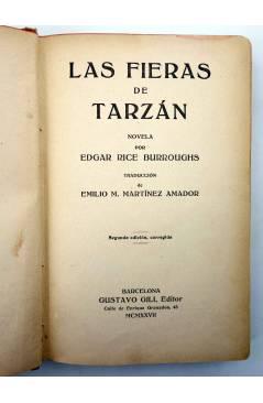 Muestra 1 de AVENTURAS DE TARZÁN 3. LAS FIERAS DE TARZÁN (Edgar Rice Burroughs) Gustavo Gili 1927. 2ª ed