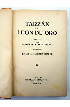 Muestra 1 de AVENTURAS DE TARZÁN 9. TARZÁN Y EL LEÓN DE ORO (Edgar Rice Burroughs) Gustavo Gili 1928