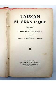 Muestra 1 de AVENTURAS DE TARZÁN 11. TARZÁN EL GRAN JEQUE (Edgar Rice Burroughs) Gustavo Gili 1929