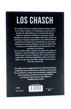 Contracubierta de CICLO DE TSACHAI 1. LOS CHASCH (Jack Vance) Tyrannosaurus 2016