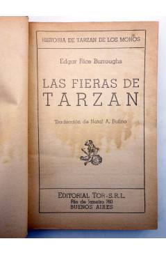 Muestra 1 de TARZÁN 3. LAS FIERAS DE TARZÁN (Edgar Rice Burroughs) Tor 1957