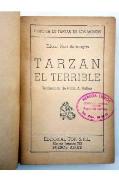 Muestra 1 de TARZÁN 8. TARZÁN EL TERRIBLE (Edgar Rice Burroughs) Tor 1945