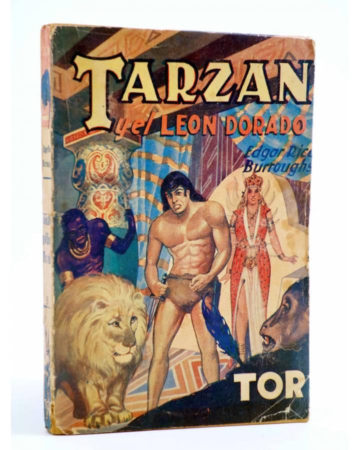 Cubierta de TARZÁN 9. TARZÁN Y EL LEÓN DORADO (Edgar Rice Burroughs) Tor 1957