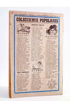 Contracubierta de TARZÁN GIGANTE 1. TARZÁN EL MAGNÁNIMO (J.A. Brau Santillana) Tor 1959. APÓCRIFO