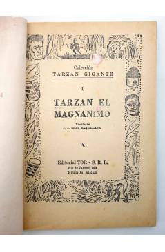 Muestra 1 de TARZÁN GIGANTE 1. TARZÁN EL MAGNÁNIMO (J.A. Brau Santillana) Tor 1959. APÓCRIFO