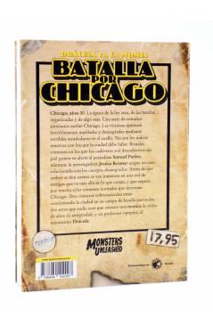 Contracubierta de MONSTERS UNLEASHED 1. DRÁCULA VS. LA MOMIA: BATALLA POR CHICAGO (Tony Jiménez) Tyrannosaurus 2013