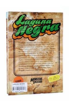 Contracubierta de MONSTERS UNLEASHED 4. LAGUNA NEGRA (Pablo García Naranjo) Tyrannosaurus 2014