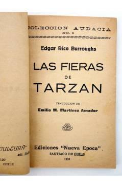 Muestra 1 de COLECCIÓN AUDACIA 5. LAS FIERAS DE TARZÁN (Edgar Rice Burroughs) Nueva Época 1933