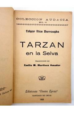 Muestra 1 de COLECCIÓN AUDACIA 11. TARZÁN EN LA SELVA (Edgar Rice Burroughs) Nueva Época 1933
