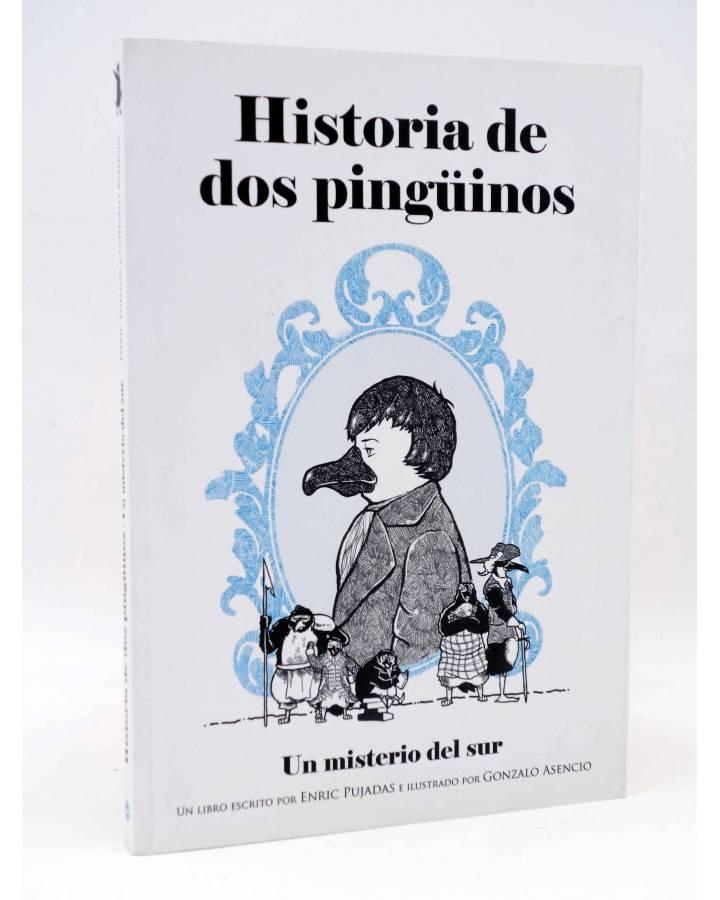 Cubierta de HISTORIA DE DOS PINGüINOS. UN MISTERIO DEL SUR (Enric Pujadas Gonzalo Asencio) Tyrannosaurus 2014