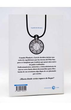 Contracubierta de HISTORIA DE DOS PINGüINOS. UN MISTERIO DEL SUR (Enric Pujadas Gonzalo Asencio) Tyrannosaurus 2014