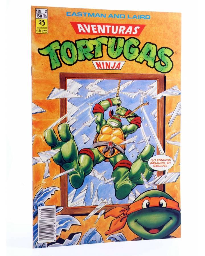 Cubierta de AVENTURAS TORTUGAS NINJA 2. ¡LO ESTAMOS PASANDO EN GRANDE!. Zinco 1990