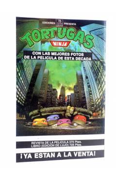 Contracubierta de AVENTURAS TORTUGAS NINJA 4. TERRIBLE PELIGRO. Zinco 1990