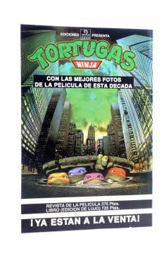 Contracubierta de AVENTURAS TORTUGAS NINJA 5. RECIÉN SALIDOS DE LAS CLOACAS. Zinco 1990