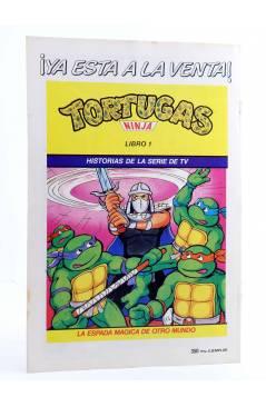 Contracubierta de AVENTURAS TORTUGAS NINJA 6. HÉROES MENGUANTES. Zinco 1990