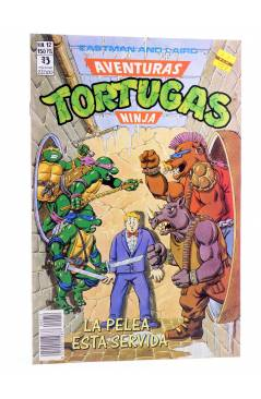 Cubierta de AVENTURAS TORTUGAS NINJA 12. LA PELEA ESTÁ SERVIDA. Zinco 1990