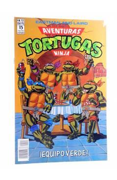 Cubierta de AVENTURAS TORTUGAS NINJA 13. ¡EQUIPO VERDE!. Zinco 1990