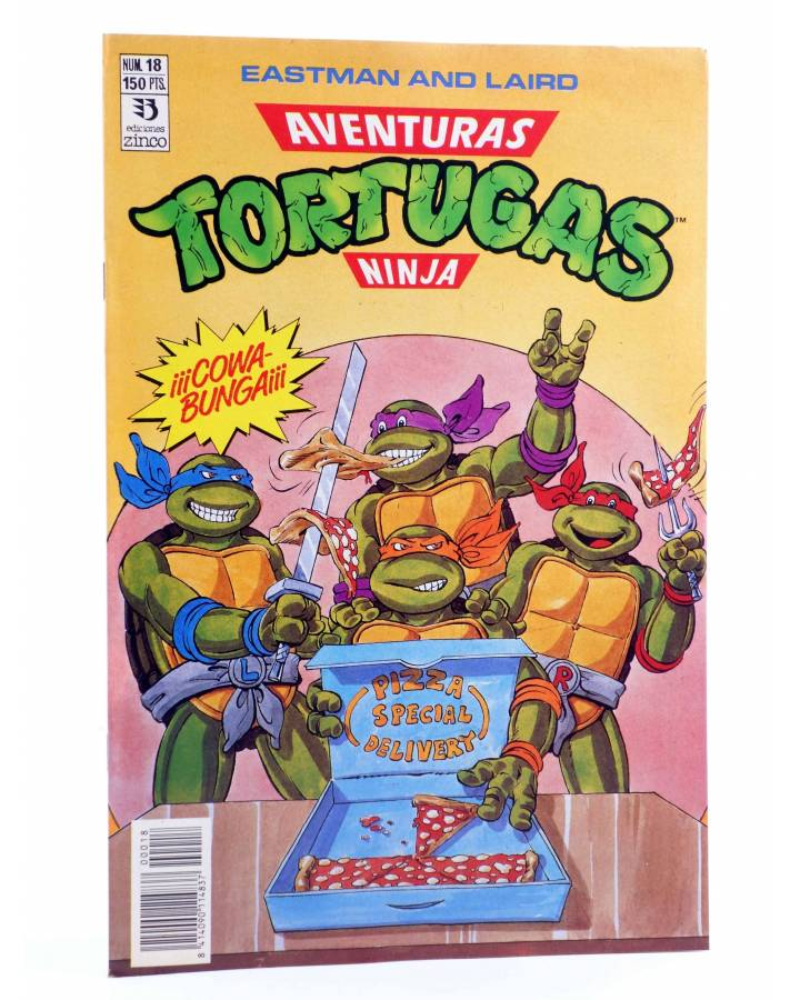 Cubierta de AVENTURAS TORTUGAS NINJA 18. ¡COWA BUNGA!. Zinco 1990