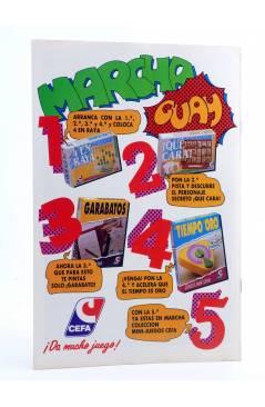 Contracubierta de AVENTURAS TORTUGAS NINJA 18. ¡COWA BUNGA!. Zinco 1990