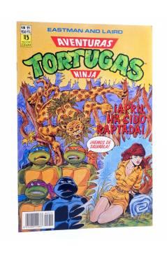 Cubierta de AVENTURAS TORTUGAS NINJA 19. APRIL HA SIDO RAPTADA. Zinco 1990