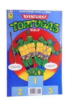 Cubierta de AVENTURAS TORTUGAS NINJA 43. ¡SOMOS SIN DUDA EL NÚMERO UNO!. Zinco 1990