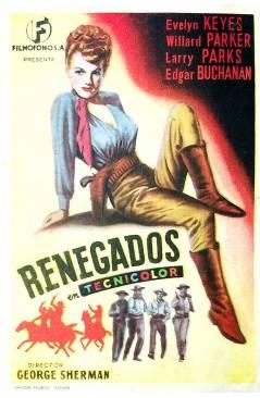 Cubierta de PROGRAMA DE MANO. RENEGADOS (George Sherman). EVELYN KEYES WILLARD PARKER LARRY PARKS