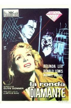 Cubierta de PROGRAMA DE MANO. LA RONDA DEL DIAMANTE (Clive Donner). BELINDA LEE RONALD LEWIS MICHAEL BROOKE