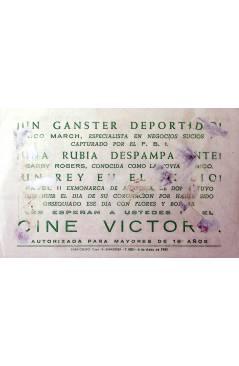 Contracubierta de PROGRAMA DE MANO. UNA RUBIA PARA UN GANSTER (Stanley Donen) 1960. YUL BRYNNER MITZI GAYNOR
