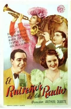 Cubierta de PROGRAMA DE MANO. EL RUISEÑOR DE LA RADIO (Arthur Duarte) 1954. MARÍA MATOS ANTONIO SILVA