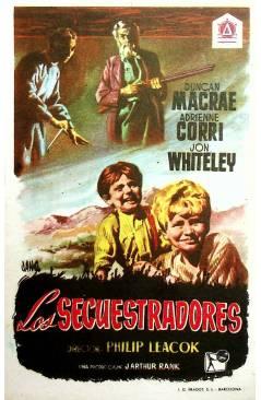 Cubierta de PROGRAMA DE MANO. LOS SECUESTRADORES (Philip Leacock) 1955. DUNCAN MACRAE ADRIENNE CORRI