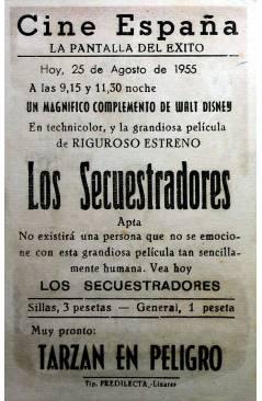 Contracubierta de PROGRAMA DE MANO. LOS SECUESTRADORES (Philip Leacock) 1955. DUNCAN MACRAE ADRIENNE CORRI