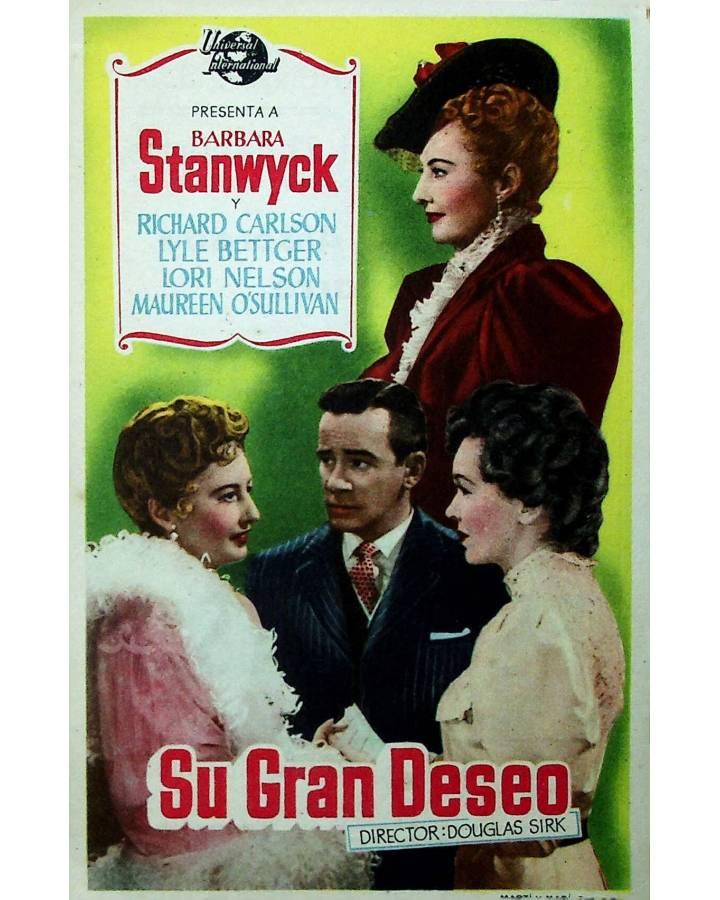 Cubierta de PROGRAMA DE MANO. SU GRAN DESEO (Douglas Sirk) Universal. BARBARA STANWYCK
