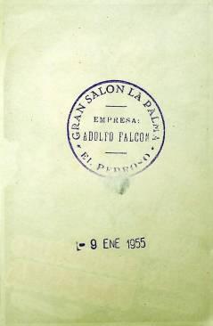 Contracubierta de PROGRAMA DE MANO. EL SUBMARINO FANTASMA (Douglas Sirk) Universal 1955. MACDONALD CAREY