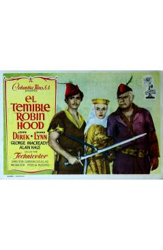 Cubierta de PROGRAMA DE MANO. EL TEMIBLE ROBIN HOOD (Gordon Douglas) Columbia Pictures. JOHN DEREK
