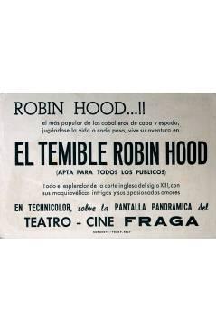 Contracubierta de PROGRAMA DE MANO. EL TEMIBLE ROBIN HOOD (Gordon Douglas) Columbia Pictures. JOHN DEREK