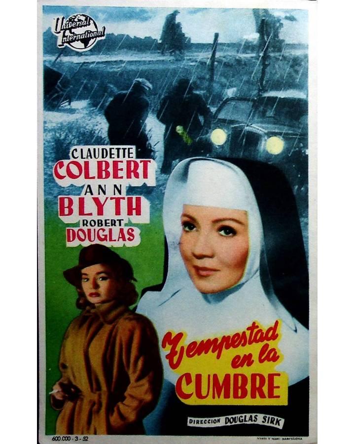 Cubierta de PROGRAMA DE MANO. TEMPESTAD EN LA CUMBRE (Douglas Sirk) Universal 1952. CLAUDETTE COLBERT