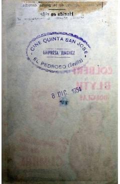 Contracubierta de PROGRAMA DE MANO. TEMPESTAD EN LA CUMBRE (Douglas Sirk) Universal 1952. CLAUDETTE COLBERT