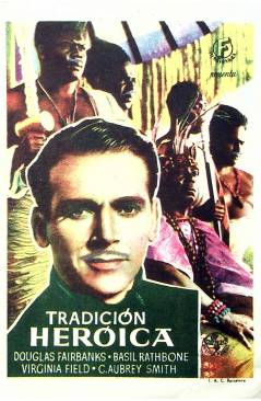 Cubierta de PROGRAMA DE MANO. TRADICIÓN HEROICA (Rowland V. Lee) Universal. DOUGLAS FAIRBANKS