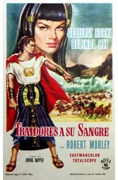 Cubierta de PROGRAMA DE MANO. TRAIDORES A SU SANGRE (Inving Rapper) 1962. ROBERT MORLEY GEOFFREY HORNE