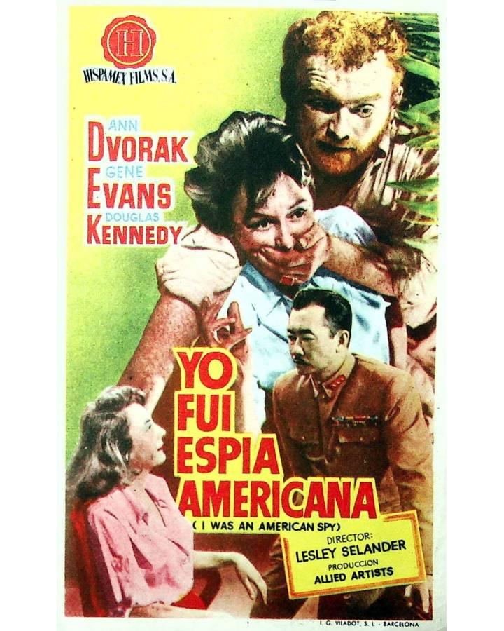 Cubierta de PROGRAMA DE MANO. YO FUI ESPÍA AMERICANA (Lesley Selander) Allied Artists. ANN DVORAK