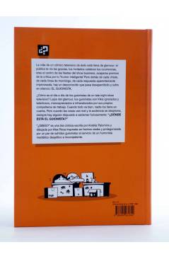 Contracubierta de ¿DÓNDE ESTÁ EL GUIONISTA? UNA TIRA CÓMICA BIEN ESCRITA (Álex Roca / Andrés Palomino) Dibbuks 2013